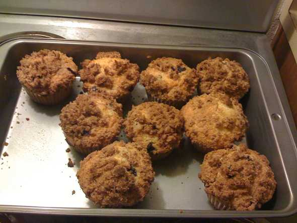 Picture of blueberry muffins
